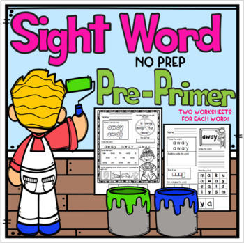 Pre-Primer Sight Word No Prep Packet