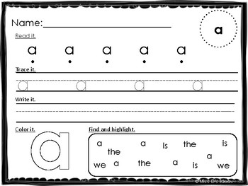 Pre-Primer Dolch Sight Word Practice: FREE SAMPLE