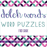 First Grade Dolch Sight Word Puzzles
