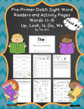 Sight Word Readers and Word Work Pre-Primer Dolch Words 11