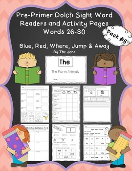 Sight Word Readers and Word Work Pre-Primer Dolch Words 26