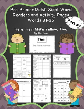 Sight Word Readers and Word Work Pre-Primer Dolch Words 31