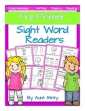 Pre-K - 1st Sight Word  Readers, Activities, Homework Dolch Pre-Primer Words