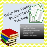 Pre Primer Dolch Sight Word Student Data Tracking Bundle