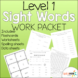 Level 1 Sight Word Work Packet