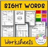 Preschool Sight Word Worksheets