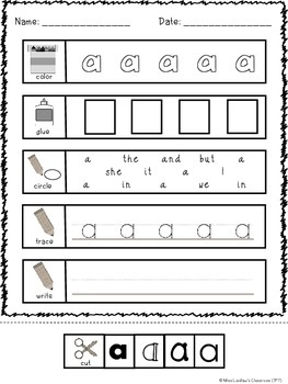 Pre-Primer Dolch Sight Word Worksheets (American Spelling)