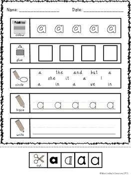 Pre-Primer Dolch Sight Word Worksheets (Canadian/UK Spelling)