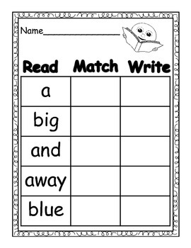 Sight Words Pre-Primer