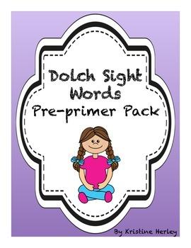 Sight Words Pre-Primer