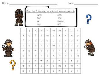 Pre-Primer Dolch Sight Words Activities and Worksheets
