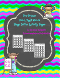 Pre-Primer Dolch Sight Words Bingo Dotter Pages