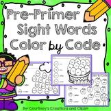 Pre-Primer Sight Words Color by Code Worksheets