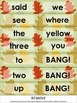Pre-Primer Dolch Sight Words {Fall Leaves} - game cards
