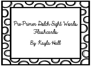 Pre-Primer Dolch Sight Words Flashcards Black and White Polka Dots!