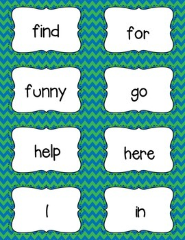 Pre-Primer Dolch Sight Words Freebie