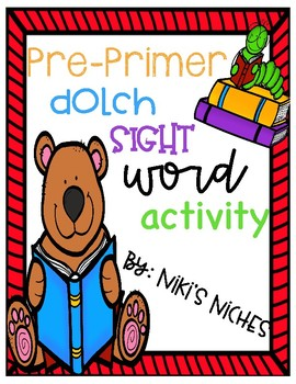Pre-Primer Dolch Sight Words: Make it, build it, write it