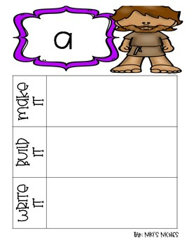 Pre-Primer Dolch Sight Words: Make it, build it, write it (Bible Characters)