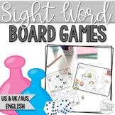 Sight Words No Prep Board Games