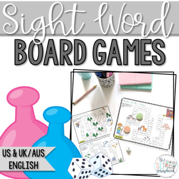 Pre-Primer Dolch Sight Words No Prep Board Games