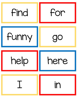 Pre- Primer Sight Words- Read, Build, and Write It