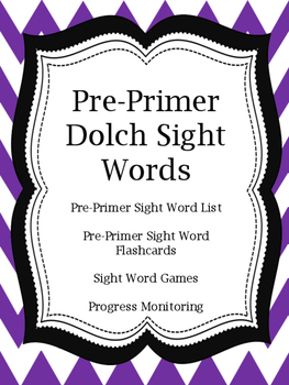 Pre-Primer Dolch Sight Words and Games