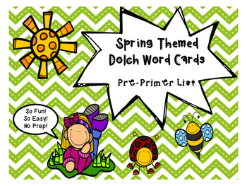 Pre-Primer Dolch Word Game - Spring Themed