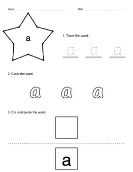 Pre-Primer Dolch Word List Activity Packet