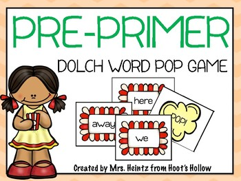 """Pre-Primer Dolch Word """"Pop!"""" Game"""