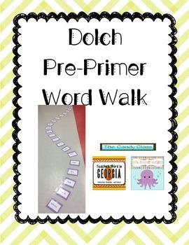 Pre-Primer Dolch Word Walk