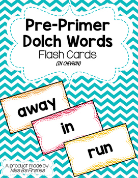 Pre-Primer Dolch Words