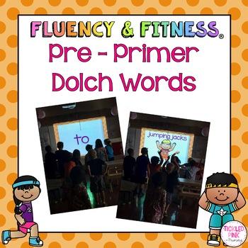 Pre-Primer Dolch Words Fluency & Fitness Brain Breaks Bundle