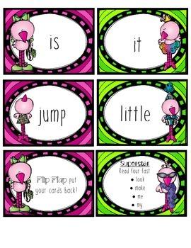 Pre-Primer Dolch Words Game: Fluency Flamingo