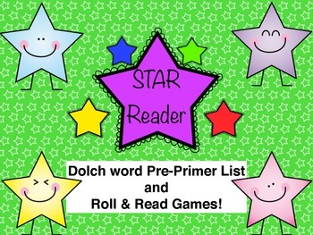 Pre-Primer Dolch word Roll and Read