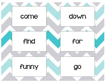 Pre Primer Flashcards/Game