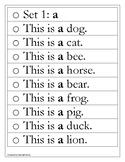 Pre-Primer Fluency Strips