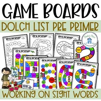 Pre Primer Game Boards