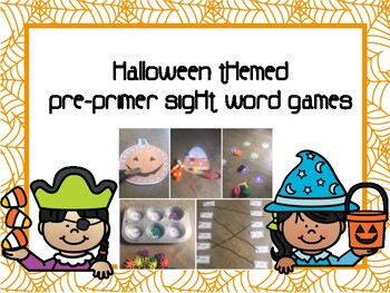 Pre Primer Halloween Sight Word Games