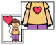 Pre-Primer Hidden Sight Word Pictures (Valentine's Day)
