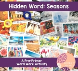 Pre-Primer Hidden Words: Seasons