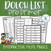 Pre Primer Interactive Notebook Pages