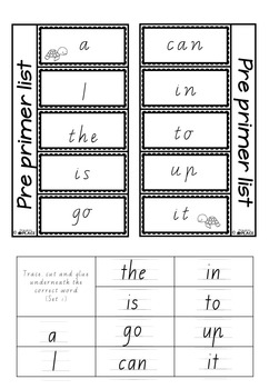 Pre-Primer Interactive Notebook Pages (Vic Font)