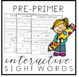 Interactive Sight Word Practice - Dolch - Pre Primer