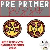 Pre Primer Pizza Party! Matching game for Pre K and Kindergarten