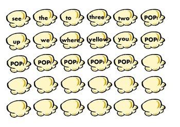 Dolch Pre Primer 'Pop' Game