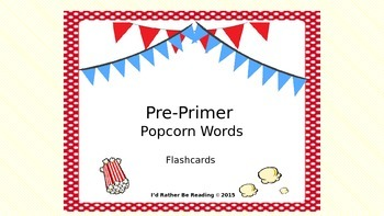 Pre-Primer Popcorn Words