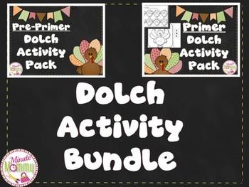 Pre-Primer & Primer Dolch Bundle {Thanksgiving Theme}