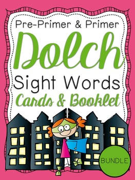 Pre-Primer & Primer Dolch Sight Word Cards & Booklet BUNDL