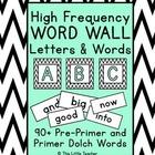 Pre-Primer & Primer Dolch Word Wall Set - White & Black Ch