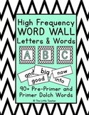 Pre-Primer & Primer Dolch Word Wall Set - White & Black Ch